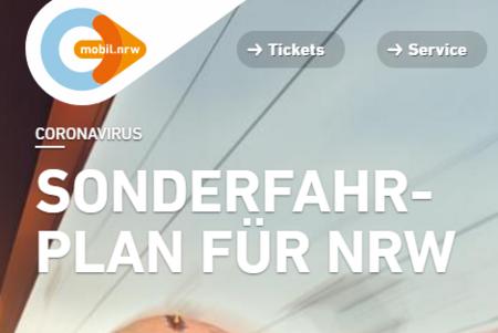 CORONAVIRUS - SONDERFAHRPLAN FÜR NRW
